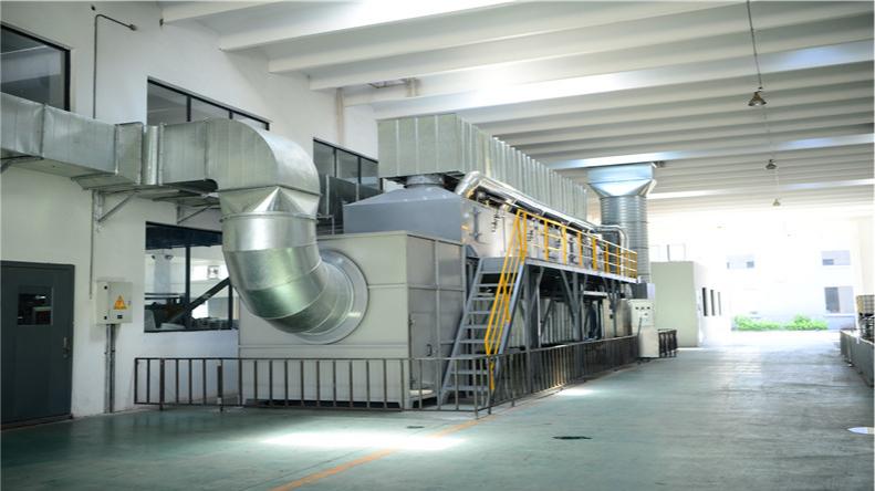 印刷涂布废气处理运用活性碳脱附吸附+CO工艺已完工