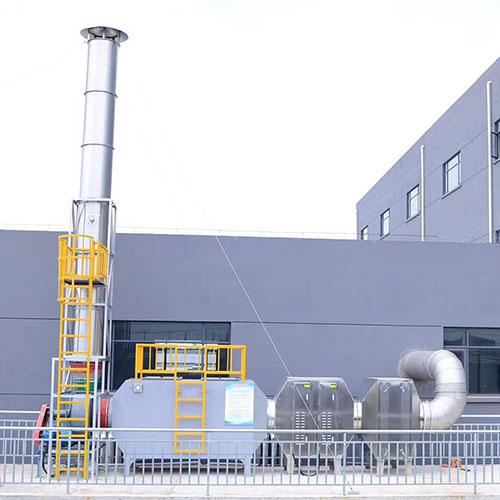 压延废气:干式过滤箱+油烟净化设备+活性炭吸附箱