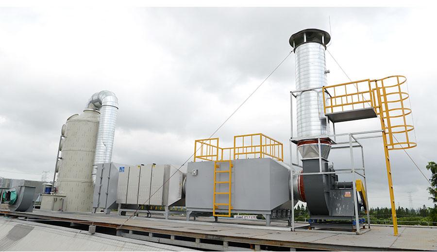 危废废气处理方案:碱洗涤塔+除臭设备+活性炭吸附