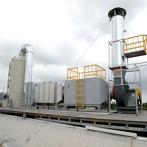 橡胶废气:喷淋塔+光氧+活性炭组合设备