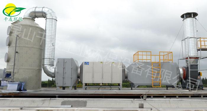 喷漆废气喷淋塔+光催化+活性炭吸附设备